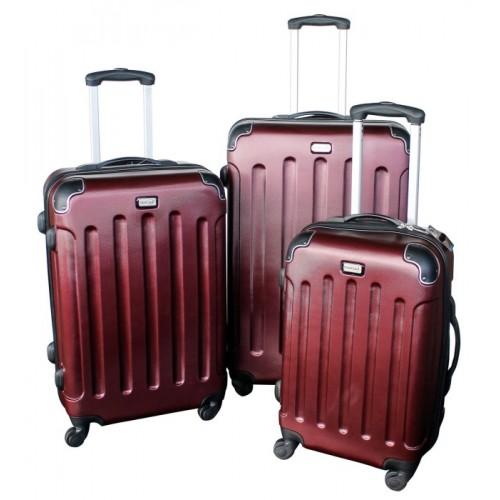 Plastikinis lagaminas MC3002, raudonos spalvos, 41 x 27 x 60 cm