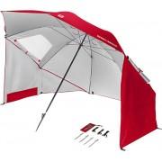 Paplūdimio skėtis SPORT-BRELLA, raudonas