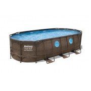 Surenkamas baseinas su filtru BESTWAY Power Steel Swim Vista Oval, 549 x 274 x 122 cm