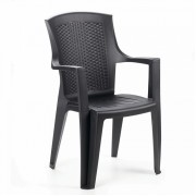 Plastikinė sodo kėdė su porankiais EDEN, 60 x 62 x 89 cm