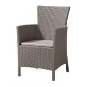 Plastikinė kėdė IOWA, 62 x 60 x 89 cm, rudos spalvos