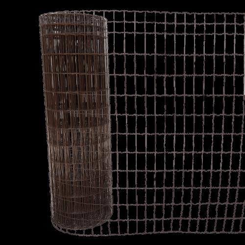 Suvirintas tinklas, 2,5 x 100 x 50 mm, 25 m, rudas