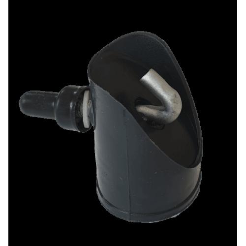 Dangtelis atraminiam stulpui, 38 mm, antracitas