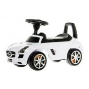 Žaislinė paspiriama mašina Mercedes Benz, baltos spalvos, 28 x 65 x 37 cm