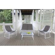 Sodo baldų komplektas CELJE, 2 kėdės, suolas ir kavos staliukas