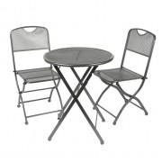 Metalinių sodo baldų komplektas ESTERA, stalas ir 2 kėdės