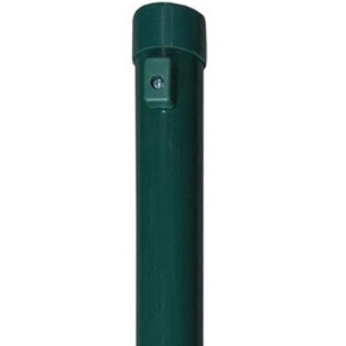 Apvalus tvoros stulpas, 38 x 2000 mm, žalias