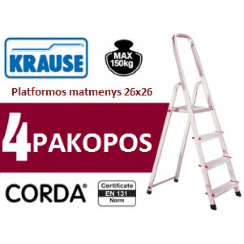 Buitinės kopėčios 4 pakopų Krause (000705)