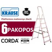 Buitinės kopėčios 6 pakopų Krause (000736)