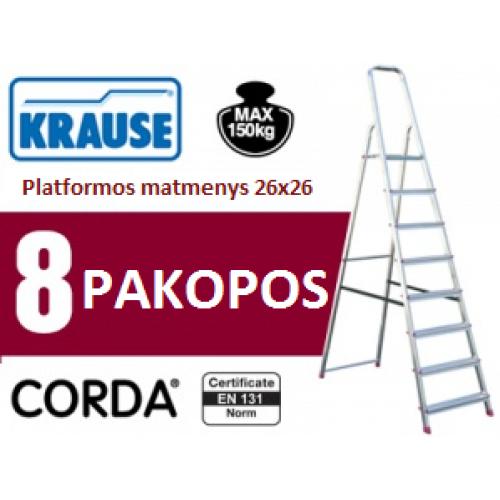 Buitinės kopėčios 8 pakopų Krause (000767)