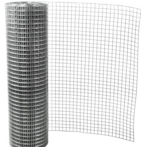 Cinkuotas suvirintas tinklas, 0,55 x 6,35 x 6,35 x 1000 mm (25m)