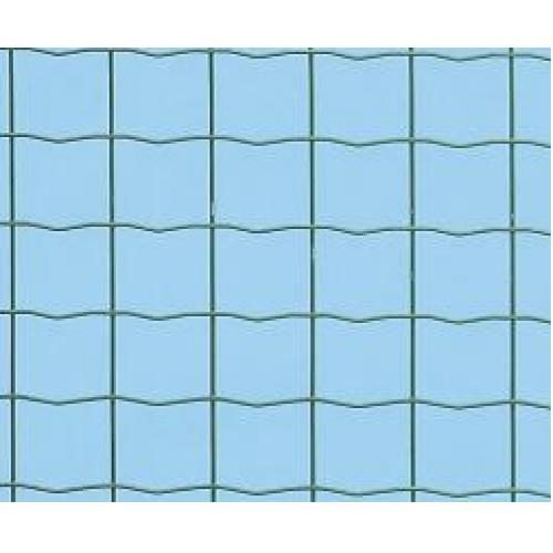 Suvirintas tinklas, 3 x 50 x 60 mm, 25 m, žalias