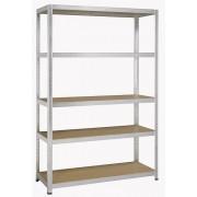 Sandėliavimo lentyna 180 x 120 x 45 cm, 5 lentynos, 250 kg