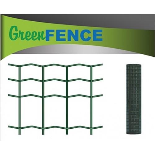 Suvirintas tinklas, 2,1 x 100 x 50 mm, 25 m, žalias