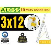 Universalios kopėčios 3d x 12pak Forte (8612)