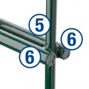 2D segmentinė tvora 6/5/6 mm